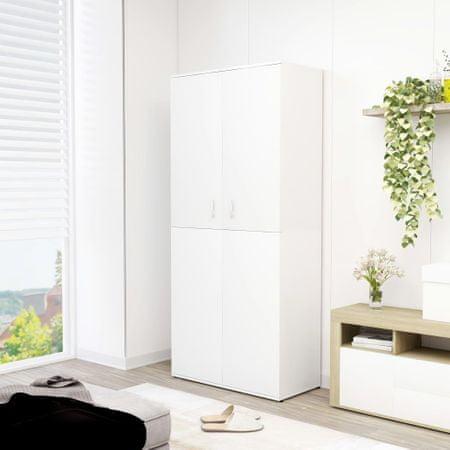 shumee Szafka na buty, biała, 80x39x178 cm, płyta wiórowa