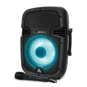vezeték nélküli Bluetooth hangszóró LAMAX PartyBoomBox300 távirányítás mikrofon bemenet vízálló
