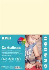 Apli karton, pastelne barve, 50 kosov