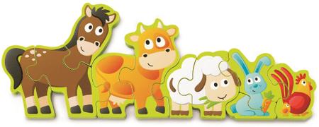 Hape Puzzle Állatok és számok, 10 darabos