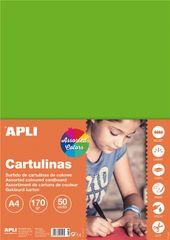 Apli karton, fluorescentne barve, 50 kosov
