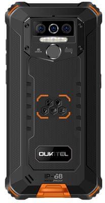 Oukitel WP5 Pro, velká kapacita baterie, dlouhá výdrž, čtečka otisků prstů, rozpoznání obličeje, odemykání obličejem