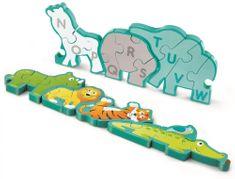 Hape Puzzle Zvieratká a abeceda, 26 dielikov