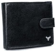 Buffalo Wild Elegantní pánská kožená peněženka Peter, černá