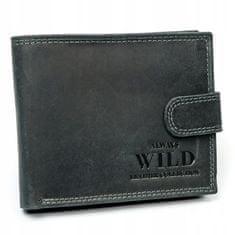 Always Wild Exkluzivní pánská kožená peněženka Ronald, černá