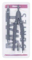 Aristo šestilo + tehnični svinčnik, siva