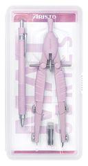 Aristo šestilo + tehnični svinčnik, roza