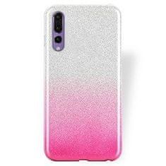 Bling 2u1 maskica za Samsung Galaxy S20 Ultra G988, silikonska, srebrno-roza, sa šljokicama