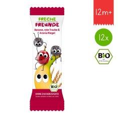 Freche Freunde BIO Ovocná tyčinka - Banán, hroznové víno a černý jeřáb (12x23g)