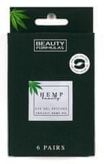 Beauty Formulas Gelové masky pod oči s konopným olejem (6 párů)