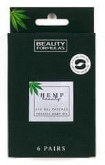 Beauty Formulas Gélové masky pod oči s konopným olejom (6 párov)
