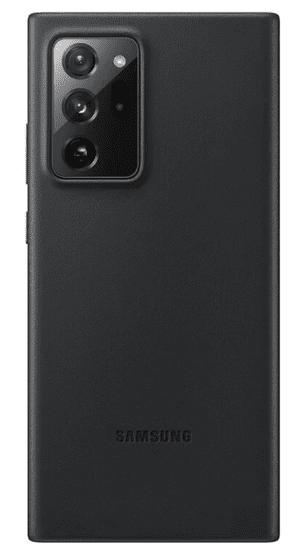 SAMSUNG Kožený zadný kryt pre Note Ultra 20 Black EF-VN985LBEGEU