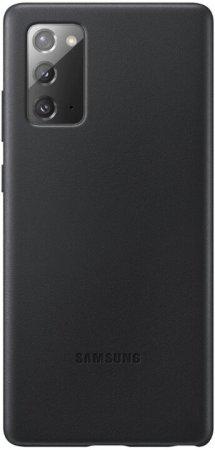 Samsung maska za Samsung Galaxy Note 20 , kožna, crna