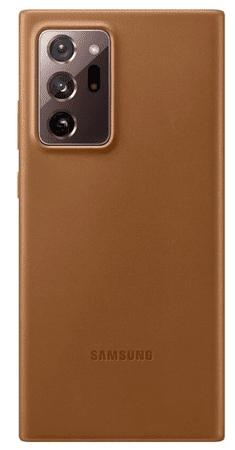 Samsung ovitek za Galaxy Note 20 Ultra, usnjeni, rjav