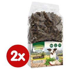NATURE LAND Complete Mono hrana za zajčke in pritlikave zajčke, 2x 900 g