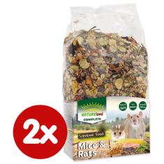 NATURE LAND Complete hrana za miši in podgane, 2x 700 g