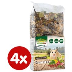 NATURE LAND Complete hrana za hrčke, 4x 300 g