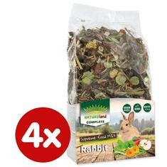 NATURE LAND Complete pre králiky a zakrslé králiky 4x600 g