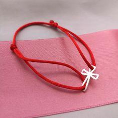 Praqia Šňůrkový náramek Kříž