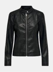 Jacqueline de Yong černá koženková bunda Stormy
