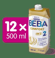 BEBA COMFORT 2 HM-O, pokračovací tekutá mléčná výživa, 12x 500 ml