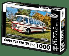 RETRO-AUTA© Puzzle BUS 10 - ŠKODA 706 RTO LUX (1960) 1000 dílků