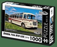 RETRO-AUTA© Puzzle BUS 12 - ŠKODA 706 RTO LUX (1979) 1000 dílků