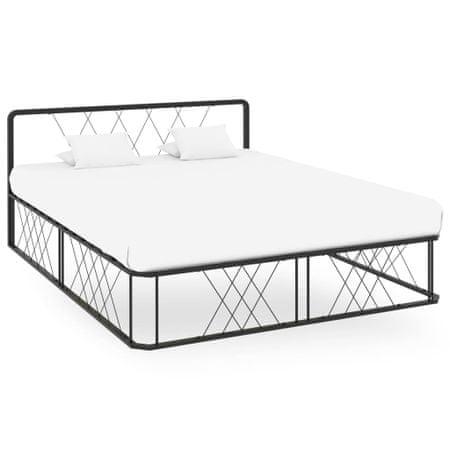 shumee Rama łóżka, czarna, metalowa, 160x200 cm