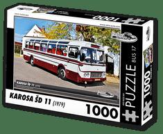 RETRO-AUTA© Puzzle BUS 17 - KAROSA ŠD 11 (1979) 1000 dílků