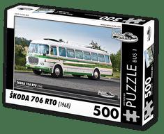 RETRO-AUTA© Puzzle BUS 1 - ŠKODA 706 RTO (1968) 500 dílků