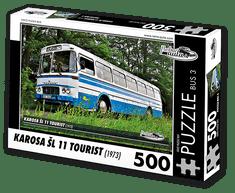 RETRO-AUTA© Puzzle BUS 3 - KAROSA ŠL 11 TOURIST (1973) 500 dílků