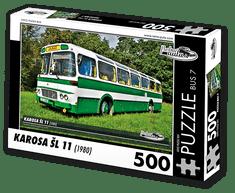 RETRO-AUTA© Puzzle BUS 7 - KAROSA ŠL 11 (1980) 500 dílků