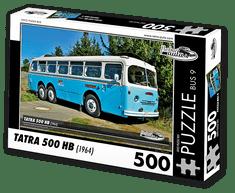 RETRO-AUTA© Puzzle BUS 9 - TATRA 500 HB (1964) 500 dílků