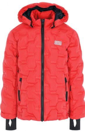 LEGO Wear dekliška bunda JIPE, 128, rdeča