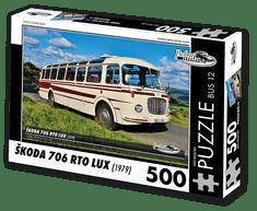 RETRO-AUTA© Puzzle BUS 12 - ŠKODA 706 RTO LUX (1979) 500 dílků