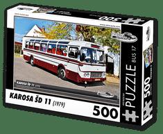 RETRO-AUTA© Puzzle BUS 17 - KAROSA ŠD 11 (1979) 500 dílků