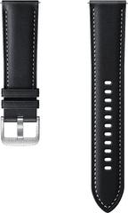 SAMSUNG Stitch Leather Band (20mm, S/M) Black ET-SLR85SBEGEU