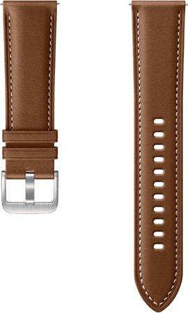 SAMSUNG Stitch Leather Band (22mm, M/L) Brown ET-SLR84LAEGEU
