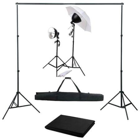 shumee Fotografski studijski komplet s svetilkami in ozadjem