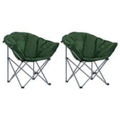 shumee Okrúhle skladacie stoličky 2 ks zelené