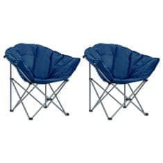 shumee Okrúhle skladacie stoličky 2 ks modré