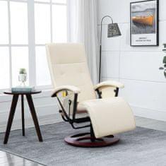 slomart Masažni stol kremno belo umetno usnje