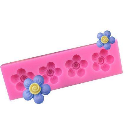 Kraftika 4 spirala kwiaty, 3d silikonowy czekoladowe mydło ciasto