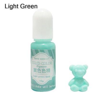 Kraftika 10g világos zöld szilárd átlátszatlan színes pigment festék