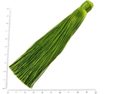 Kraftika 4szt jasny khaki zielony długi kutas kolczyki urok mały