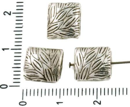 Kraftika 8 szt. antyczne srebro ton płaskie rzeźbione liście