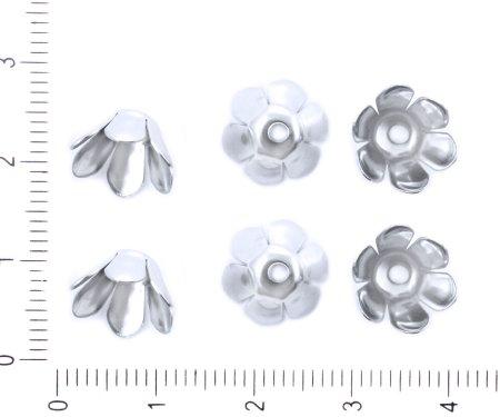 Kraftika 40szt platyna srebrny kolor powlekane kwiat wieniec