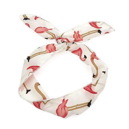 Kraftika 1pc fehér rózsaszín flamingo sifon női fejpánt szövet