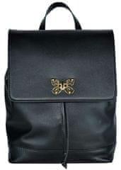 VegaLM Moderný ruksak z hovädzej kože v čiernej farbe