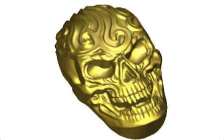 Kraftika 1db koponya emberi ijesztő halloween fej műanyag szappan
